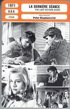 FICHE CINEMA : LA DERNIERE SEANCE - Bridges,Shepher 1971 - The Last Picture Show