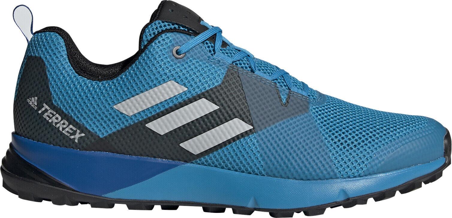 Adidas Terrex dos para Hombre Trail Running Zapatos-Azul
