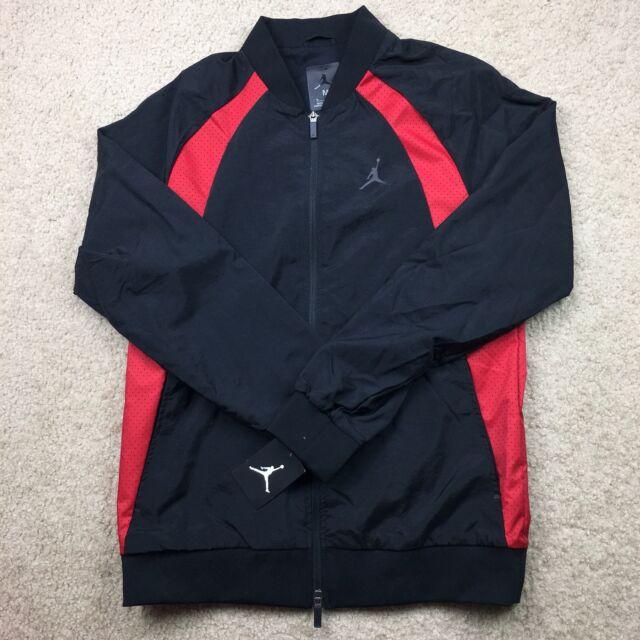 e316db786a7c Nike Air Jordan Retro Track Wind Breaker Coat Jacket Black Red 23 ...