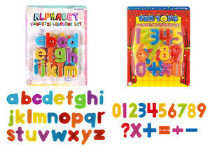 26 PC NUMBER MATHEMATICS FUN TOYS MAGNETIC LEARNING SET ALPHABET SIGNS KIDS PLAY