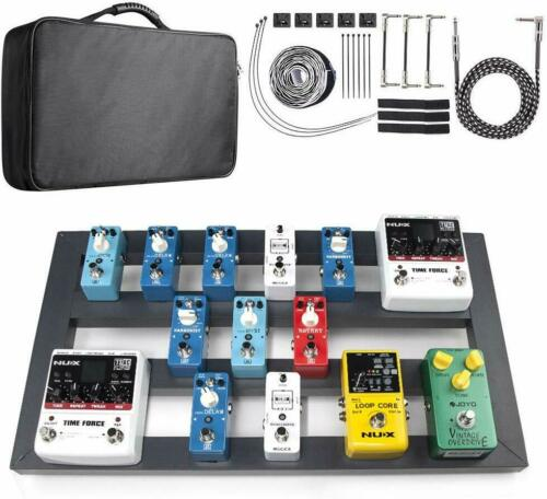 """Guitar Pedal Board Large with Bag 22.2/"""" x 12.78/"""" x 2.75/"""" Aluminum Alloy Effects"""