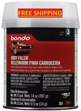 NEW Bondo 261 Lightweight Automotive Body Filler Car Boat Bike Cream Hardener
