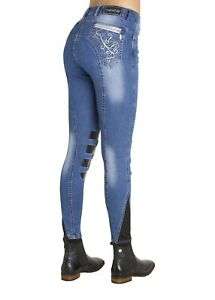 Montar-Damenreithose-034-MERY-034-denim-Jeansreithose-mit-Kneegrip