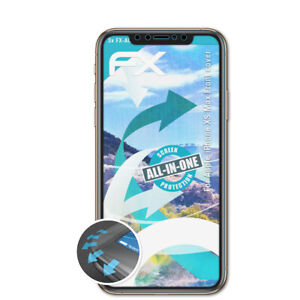 atFoliX-3x-Protective-Film-for-Apple-iPhone-XS-Max-Front-cover-clear-amp-flexible