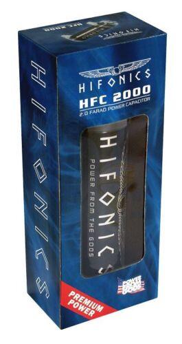 Hifonics powercap HFC 2000 verdadero 2 Farad condensador electricidad búfer PVP 139,