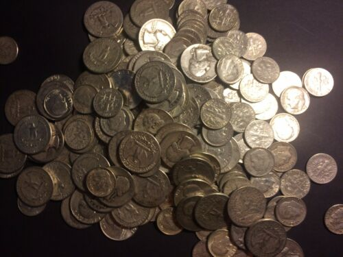 $12.50 Face BAG  Mix US 90/% Silver Junk Coin   ONE 1 WHOLESALE LOT!!
