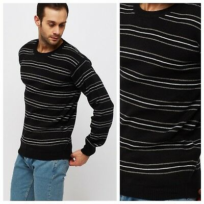 INCERUN Mens Plain Jumper Knitted Basic Crew Round Neck Knit Knitwear Sweater
