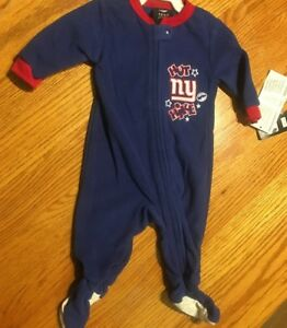 differently 4a046 8c20d Details about New York Giants Toddler Fleece Footie Pajamas