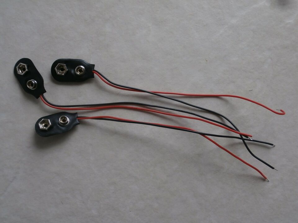Batterier, BATTERITERNINAL - BATTERI CLIPS - 9V