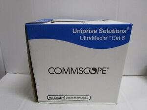 COMMSCOPE 7504 YELLOW CAT6 CAT 6 ULTRA MEDIA CABLE 1000 FOOT NEW BOX SEE PHOTOS