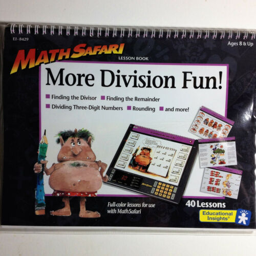 MathSafari Electronic Learning Systm 40 Lesson Pack More Division Fun RARE NIP