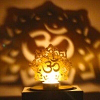 Om Idol Shadow Candle Holder For Puja  Hinduism Yoga /& Meditation diwali Pack 2