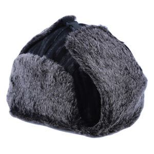 7242736a3 Details about Bomber Cap Russian Ushanka Style Hat Soft Faux Fur Cap With  Ear Flaps one