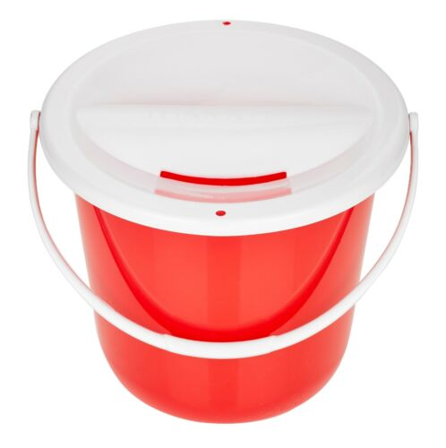 Red Pack of  3 Charity Fundraising  Collection Buckets with Lids