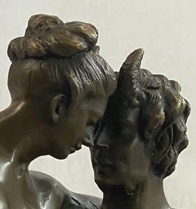 Bronze Austrian Erotic Demon Satyr Devil Sculpture Vintage Figurine Mythical Art