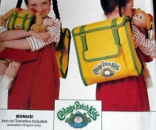 Cabbage Patch Kids BACKPACK pattern for doll and youth with iron on patch