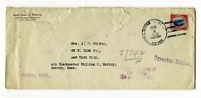 1918 US Governmental Flight Cover AAMC 104b NY-Boston C3 Experimental Air Mail