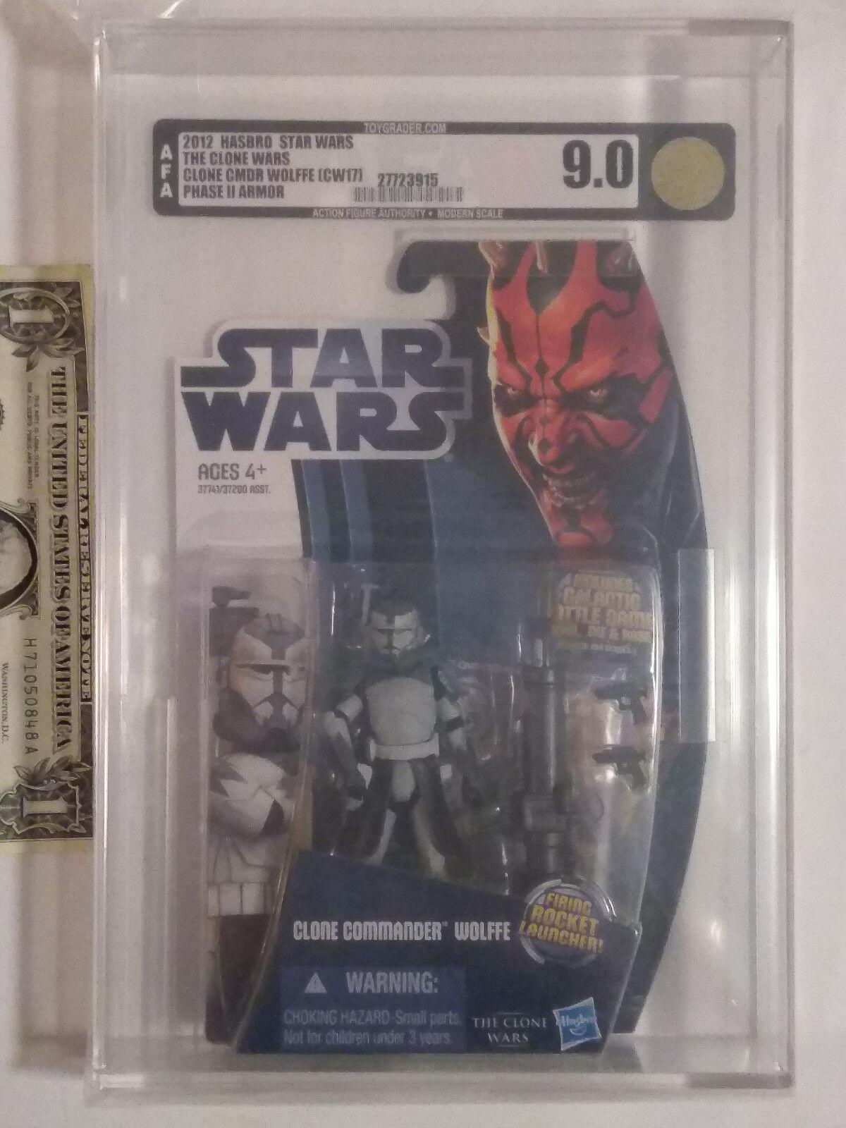 Autoridad Figura de Acción 9.0 Estrella Wars Clone Wars Commander Wolffe armadura de fase II (CW17) 27723915 Figura de Acción autoridad