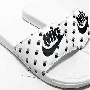 Nike Benassi JDI Women s Slides Flip-Flops sandals polka dot  42570d3b786f
