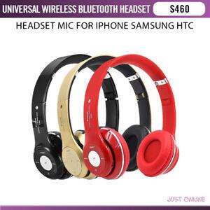 S 460 Wireless Headphones Bluetooth Stereo Headset Mic For Iphone Samsung Htc Ebay