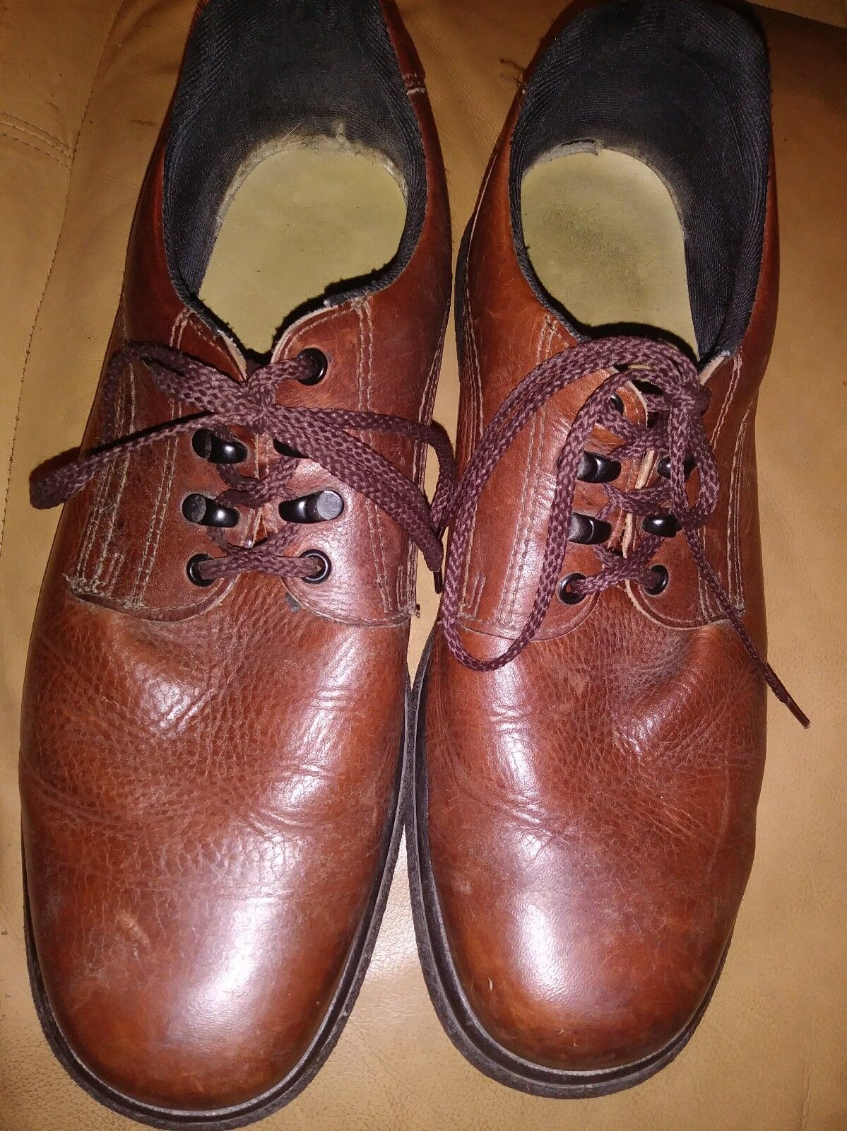 Red Wing Brown  Work Dress  Shoes  Sz 15 Well Worn 0501