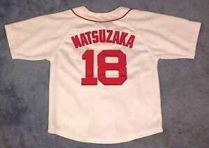 64890cc15 Daisuke Matsuzaka Boston Red Sox  18 MLB Baseball Jersey Youth Size ...