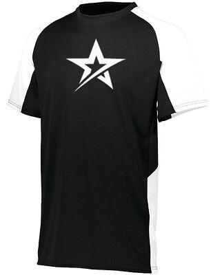 Roto Grip Men/'s Hustle Performance Crew Neck Bowling Shirt Dri-Fit Black White