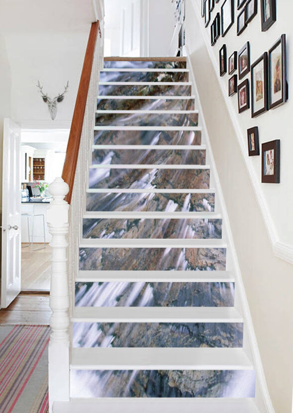 3D Clear water 239 Stair Risers Decoration Photo Mural Vinyl Decal Wallpaper AU
