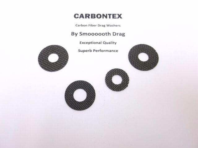 4 Shimano Reel Part Calcutta 200D Smooth Drag Carbontex Drag Washers #SDS48