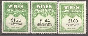 US   Sc# RE146-147-149   Wine Revenues   CV $8   gtc15