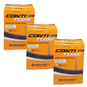 3-x-Continental-Bike-Inner-Tube-Race-28-700-25-32-Presta-60mm-cycle-valve-Wide