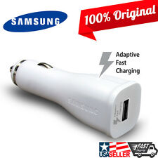 Original Samsung Fast Car Charger USB Adapter 2A White Adaptive for Note 5 4 S6
