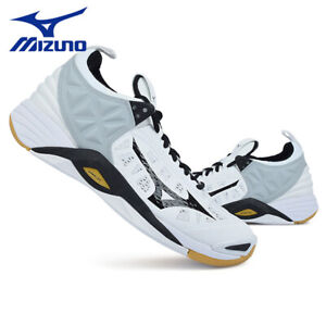 Mizuno FANG SS Badminton Shoes Unisex Shoe White Green Indoor NWT 71GA171021