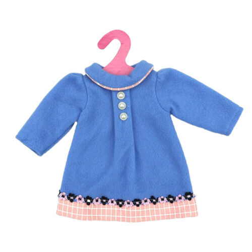 Doll Blue Dress Winter Clothes for 18/'/' AG American Doll Dolls Wear Accessory