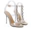 Women-039-s-Open-Toes-Rhinestones-PVC-Gold-Clear-Slingbacks-Sandals-Slim-High-Heels thumbnail 5