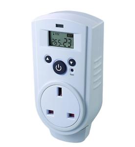 Enchufe Termostato Thermo Guard Control Digital TH-928T invernadero Cobertizo Garaje