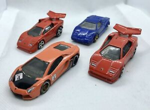 Hot-Wheels-Lamborghini-paquete-JOBLOT-automovil-de-fundicion-vehiculo-Raro-Coleccionable