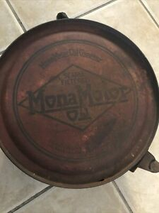 Very-Rare-Vintage-MONA-MOTOR-OIL-5-Gallon-ROCKER-CAN-1920-039-s-gas-sign
