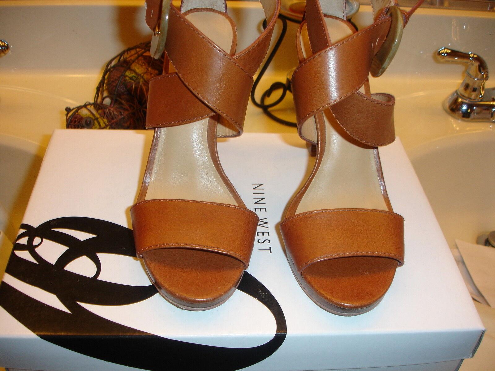 Nine West NW7Teri Teri braun Leather schuhe Quality Wedding Prom Quality schuhe 6 6.5 7  99 54b417