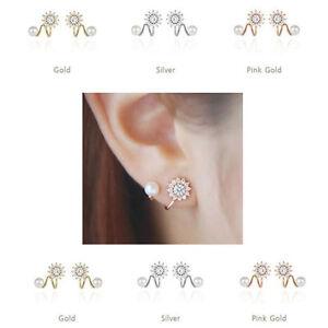 Ear-Climber-Earrings-Crawler-Flower-Ear-Cuff-Pin-Vine-Wrap-Studs-Crystal-Jewelry