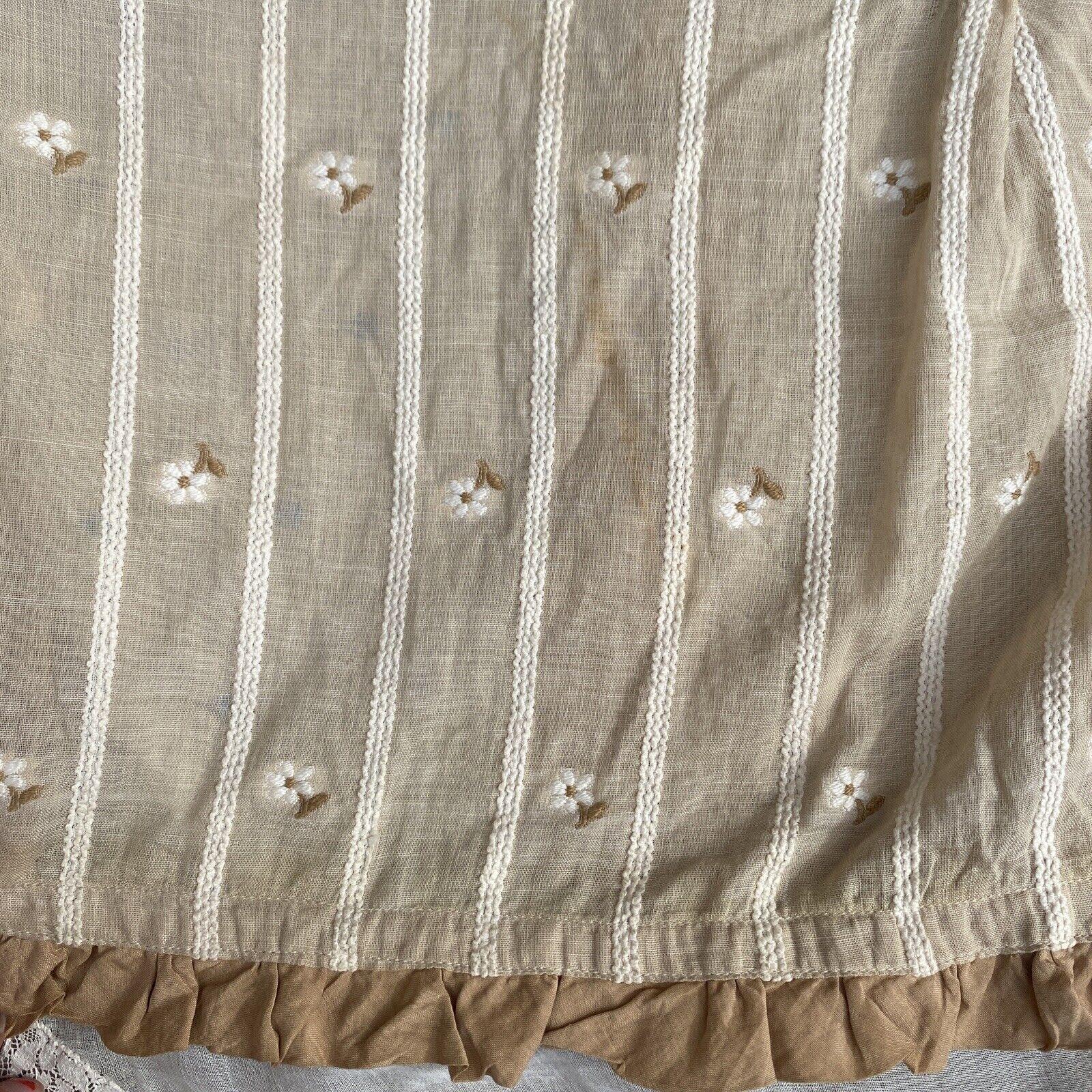 Antique Edwardian Ecru Cotton Blouse Top Embroide… - image 9