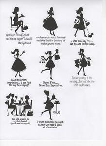 Creative-Expressions-Pre-Cut-Rubber-Stamps-FEMALE-amp-QUOTES-Girl-Lady