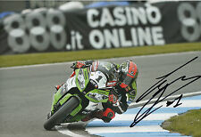 Tom Sykes Hand Signed Kawasaki Racing 2014 12x8 Photo WSBK 2.