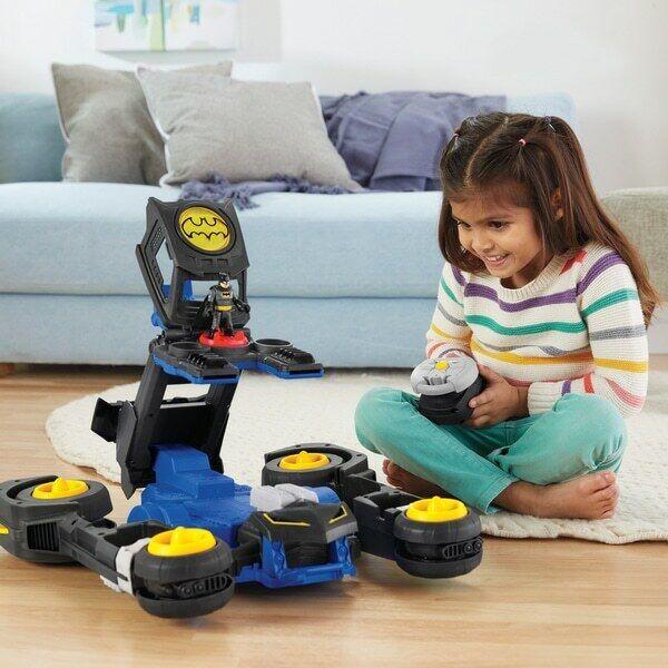 Imaginext DC trasforuomodo Remote BATMOBILE BATuomo Azione Control Bambini batbot giocattolo