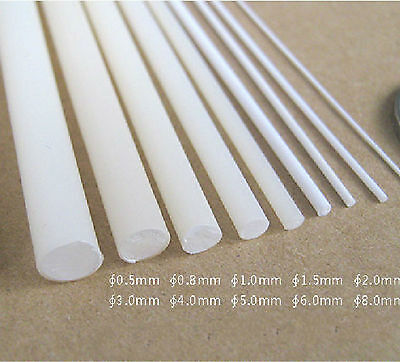 uxcell ABS Styrene Plastic Round Bar Rod,1//16 inch Dia 20 inch Length,White for Architectural Model Making DIY 6pcs