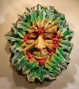 Details about Large Greenman Plaque 'Winter' Jack in the green, pagan,  wiccan, mayday,