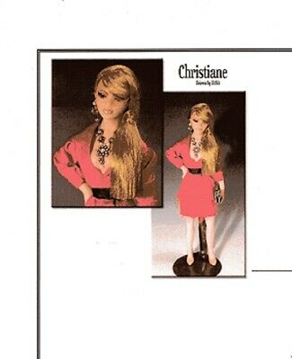 1:12 scale Miniature Doll Art Tutorial By DANA Pattern//Clothes//Hair LIBBY