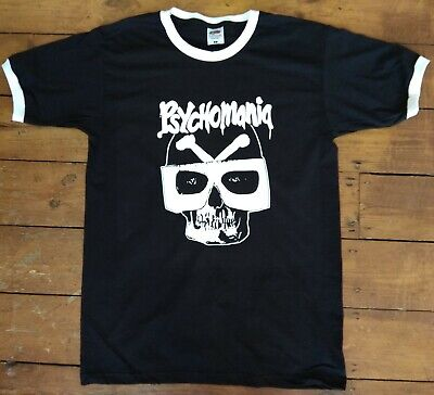 Cult Biker 70/'s Various Colours Psychomania Ringer T-shirt British Horror