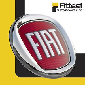 Fregio-stemma-logo-Fiat-Anteriore-500-Grande-Punto-Panda-Rosso-95mm-da-2007