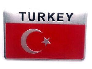 Sticker-Aufkleber-Emblem-Tuerkei-Turkey-Flagge-Auto-Metall-selbstklebend-Tuerkiye